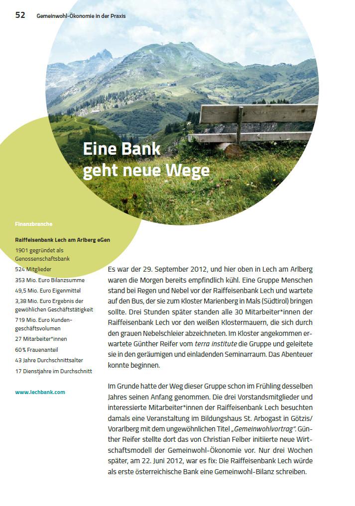 Leseprobe: Raiffeisenbank Lech am Arlberg